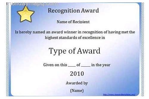 Award Certificate Template Free Download Word Arexocin
