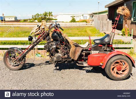 A Custom-made Three-wheeled Motorcycle / Chopper Adorned