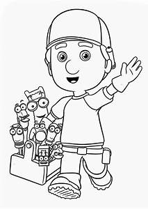 Greeting From Handy Manny and Friends Coloring Page ...