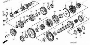 Honda Atv 2008 Oem Parts Diagram For Transmission