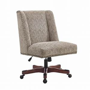 Linon draper swivel fabric upholstered office chair in for Office chair fabric upholstery