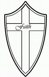 Shield Coloring Faith Pages Tattoo Drawing Medieval God Crafts Armor Tattoos Link Bible Quotes Printable Cliparts Colouring Christian Revolutionmyspace Popular sketch template