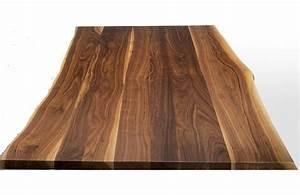Planche De Bois Massif : plateau de table noyer massif ep 45mm la fabrique bois ~ Dailycaller-alerts.com Idées de Décoration