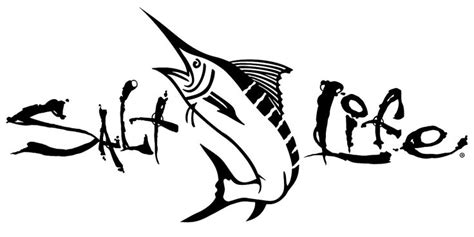 salt life signature marlin decal livin  salt life