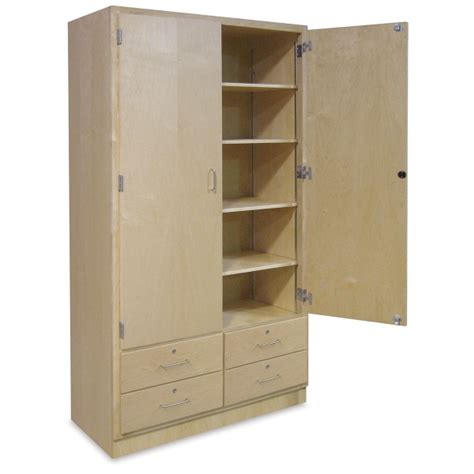 cabinet with drawers and shelves hann storage cabinet with drawers blick materials