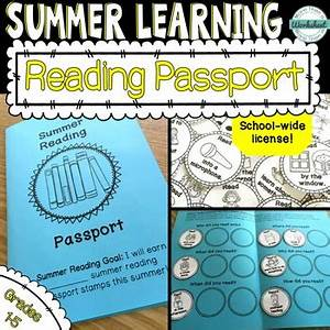 Passport Template For Students Summer Reading Passport School Wide License By More Than