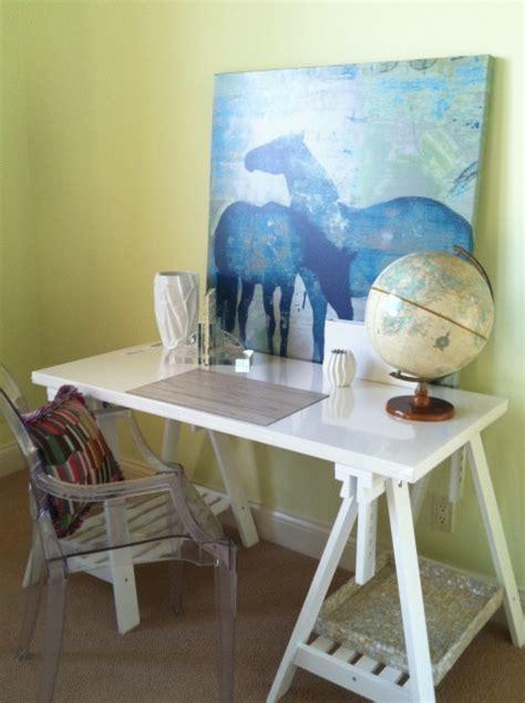 horse desk contemporary girls room benjamin moore lemon twist maccaul turner design