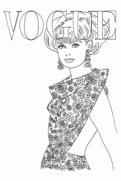 Vogue Coloring Colouring Magazine Pop Goes Adult