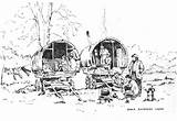 Gypsy Caravan Wagon Drawings Rosemary Lodge Horse Diana Romany Coloring Sketch Caravans Paintings Horses Template Larger Credit Dales Yorkshire sketch template
