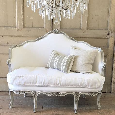Cottage Settee by Carved Settee In Dove Grey With Belgian