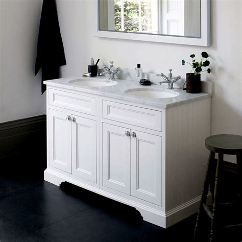 Burlington 130 Twin Basin Vanity Unit with Four Doors : UK