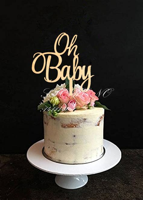 baby cake topper  baby shower cake decoration wooden