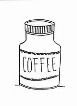 Coloring Coffee Jar Bulk Bulkcolor sketch template