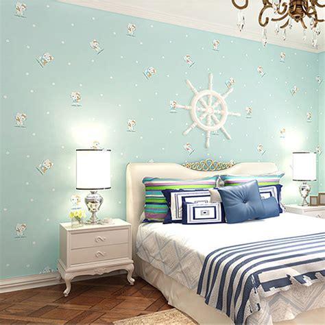 Boys Bedroom Wallpaper by Children S Room Blue Woven Wallpaper Boys