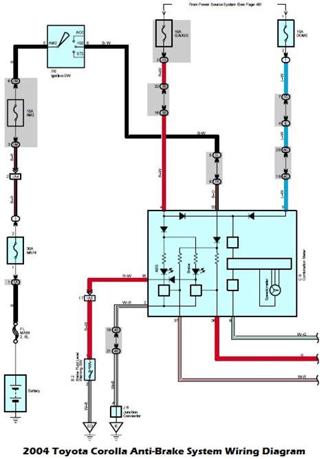 03 Toyotum 4runner Efi Wiring by Wiring Diagrams 2004 Toyota Corolla Anti Brake System