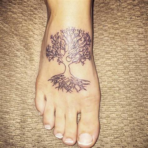 tree  life tattoos  foot