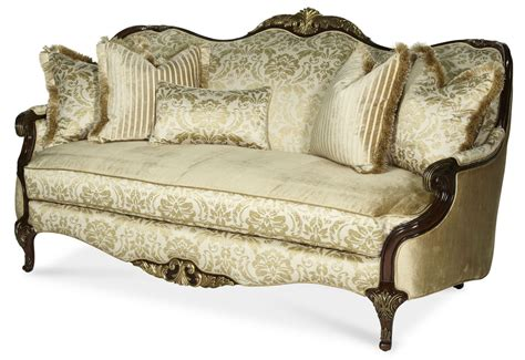 imperial court wood trim sofa from aico 79815 chpgn 40