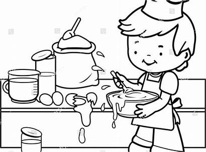 Coloring Kitchen Pages Cooking Utensils Tools Printable