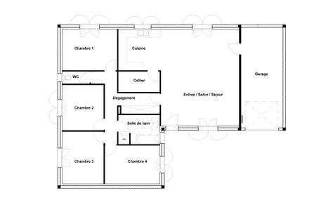 plan cuisine ferm馥 plan de maison 3 chambres une grande maison de plainpied plan simple de maison avec 3 chambres amnagement du0027une partie du garage en