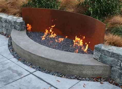 metal projects rusted diy outdoor fire pit garden fireplace steel wall gas open amazing project woohome rusty firepit place cool