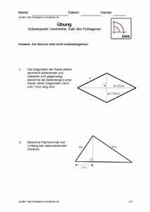 Satz Des Pythagoras A Berechnen : satz des pythagoras bungsblatt 1005 satz des pythagoras ~ Themetempest.com Abrechnung