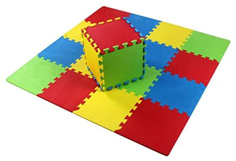 balancefrom kid s puzzle exercise play mat with 36