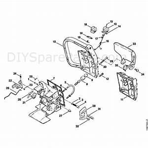 Stihl 015 Chainsaw  015l  Parts Diagram  Handle Housing