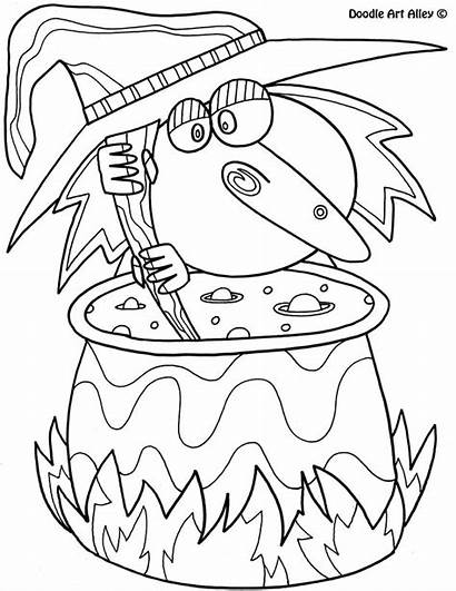 Coloring Pages Face Halloween Clown Doodle Alley