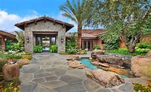 Fondos de Pantalla Casa Diseño del paisaje Fuente Rancho ...