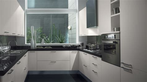 black and white kitchen floor pictures sax kuchyň rohov 225 s oknem interiery cz 9277