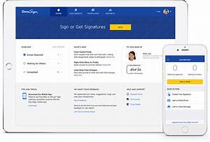 electronic signature solution industry leader docusign With electronic document signature software