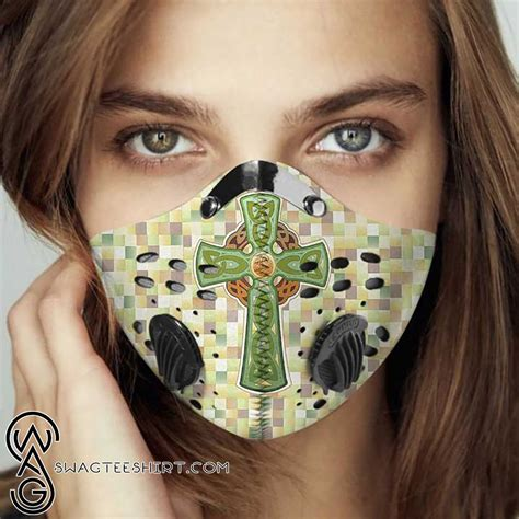 celtic cross filter carbon face mask