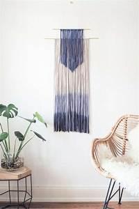Wanddeko Selber Machen : diy wanddeko selber machen dip dye wall hanging paulsvera ~ Eleganceandgraceweddings.com Haus und Dekorationen