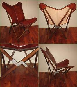 Butterfly Chair Original : tripolina butterfly chair premium leather and wood folding frame chairs pinterest ~ Sanjose-hotels-ca.com Haus und Dekorationen