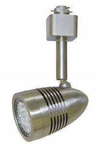Led Track Lighting Heads Dimmable Cyber Tech Tl7bth Ns Modern Nickel Satin Led Bullet Style