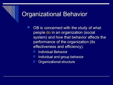 behavior organizational chapter