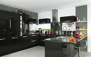 cuisine indogate cuisine gris et bois cuisine noire blanc With cuisine gris et noir