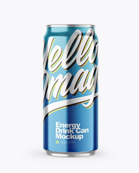 The biggest source of free cosmetic packaging mockups! Metallic Drink Can Mockup in Can Mockups on Yellow Images ...