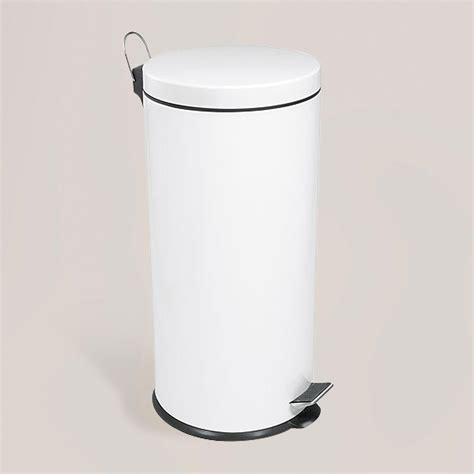 White Stainless Steel Step Trash Can World Market