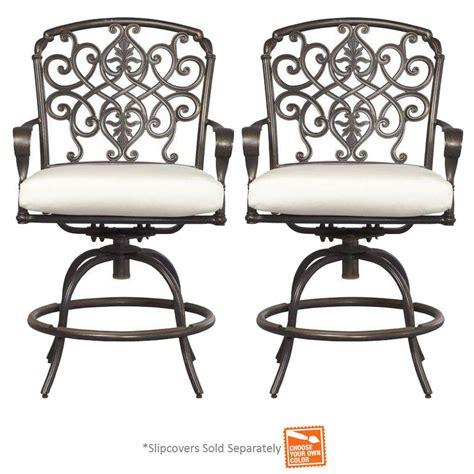 hton bay edington swivel patio balcony chair with