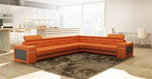 Orange modern sofa wayfair com sofas also small sectional for Contemporary orange sectional sofa
