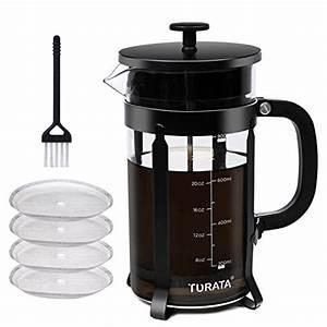 French Press Kaffeepulver : turata kaffeebereiter caffettiera kaffeekanne french press system permanent edelstahlfilter 1 ~ Orissabook.com Haus und Dekorationen