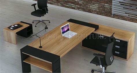 bureau grand bois mobilier de bureau moderne grand bureau exécutif sz