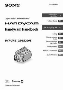 Sony Dcr Sr220 Download Manual For Free Now