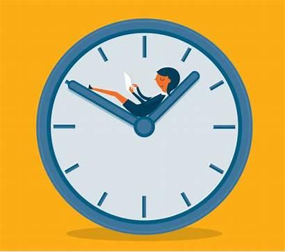 Break Vector Coffee Clip Clipart Clock Businesswoman