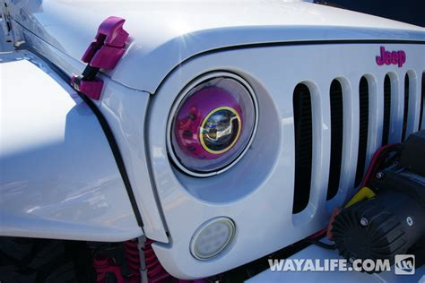 white jeep with teal accents 2014 sema white pink dub jeep jk wrangler unlimited