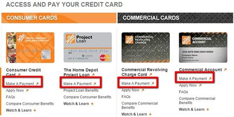 Home Depot Credit Card Bill Pay