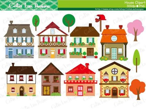 House Clipart Houses Clip Art Buildings Homes Cute Houses