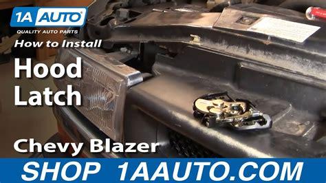 install replace broken hood latch chevy  blazer