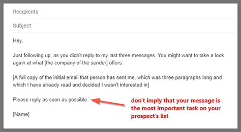 follow  email samples       response